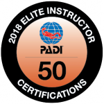 certificado padi elite instructor 50 ibiza