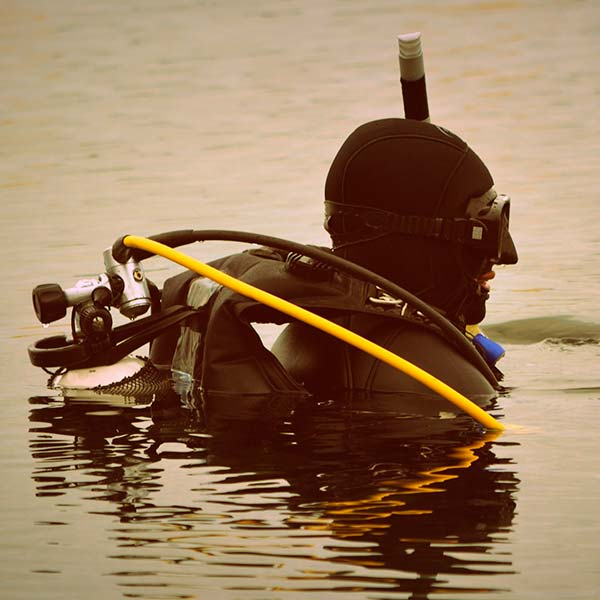 diver in surface